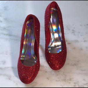Dorothy Inspired Sparkly Red Heels